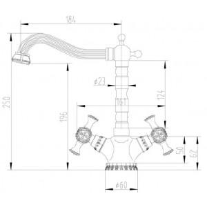 Смеситель Zorg A 7005K-BR бронза