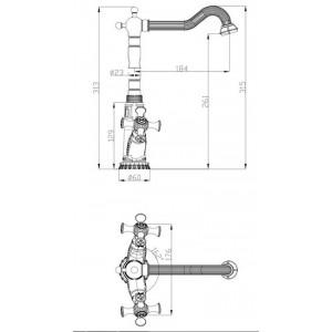 Смеситель Zorg A 7006K-BR бронза