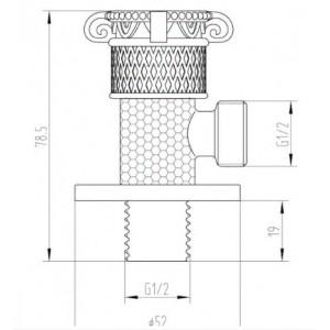 Zorg AZR 6 Br кран предназначен для подключения душевого шланга