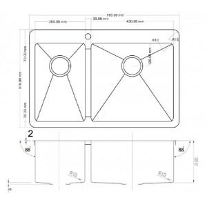 Мойка Zorg ZL 780-2-510-R